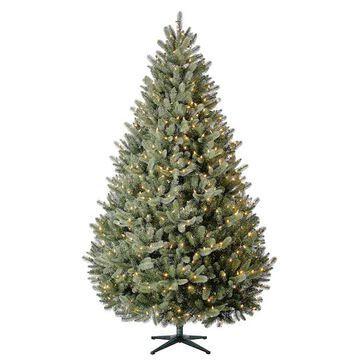 7.5Ft Pre-Lit Aspen Pine Quick Set Artificial Christmas Tree, Warm White LED Lights by Ashland   Michaels