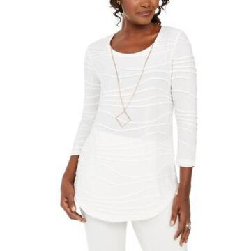 Jm Collection Wavy Textured Knit Top, Created For Macy's