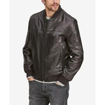 Men's Summit Leather Bomber Jacket