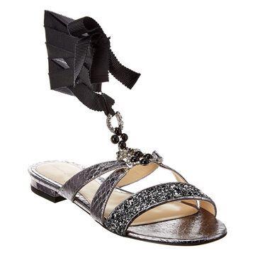 Monique Lhuillier Genna Leather Sandal