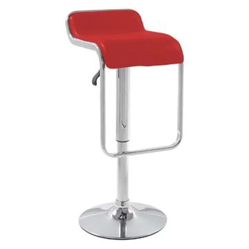 Fine Mod Imports Flat Bar Stool Chair, Red