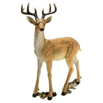 Design Toscano Woodland Buck Deer Statue