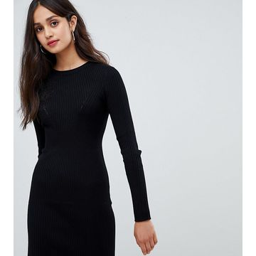 Bershka ribbed knitted dress