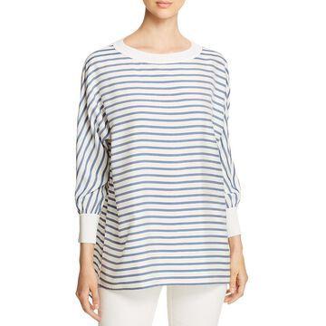 Lafayette 148 New York Womens Joplin Silk Striped Blouse