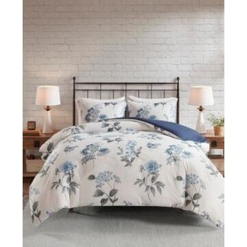 Madison Park Zennia King/California King 3-Pc. Printed Seersucker Duvet Cover Set Bedding