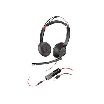 Plantronics Blackwire 5220 - 5200 Series Headset - on-ear Wired - 3.5 mm jack, USB-C