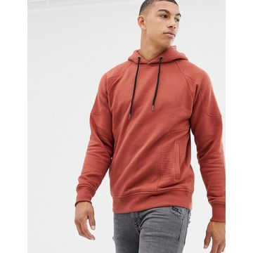 Another Influence Ribbed Panel Overhead Hoodie