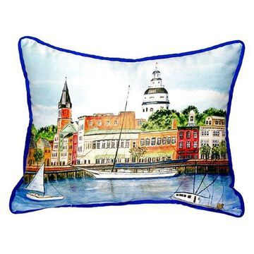 Annapolis City Dock Large Indoor/Outdoor Pillow, 16