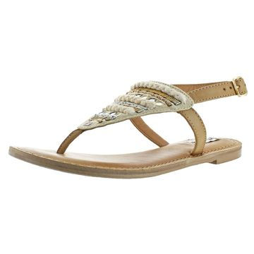 Not Rated Sylen Women's Embellished T-Strap Sandals Shoes