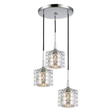 Woodbridge Lighting Bristol Cluster Pendant, Mercury Square
