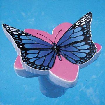 Poolmaster Butterfly Swimming Pool Chlorine Dispenser, Blue