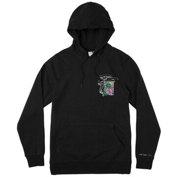 Rvca Mens Sage Mix Hood Hood, Adult