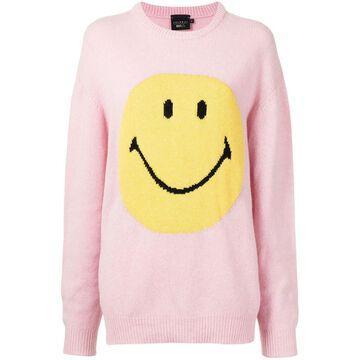 smiley-print jumper