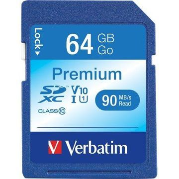 Verbatim, VER44024, Premium SDHC Memory Card, 1