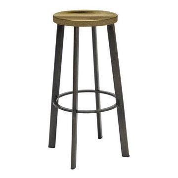 KFI Metro Barstool, 30in H, Natural Wood Seat