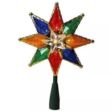 Northlight Seasonal Pre-Lit Multi-Colored Star Christmas Tree Topper, Multicolor