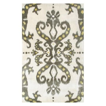 The Rug Market Julia Wong Designs 5 x 8 Wool Cream Floral/Botanical Area Rug in White   44374D