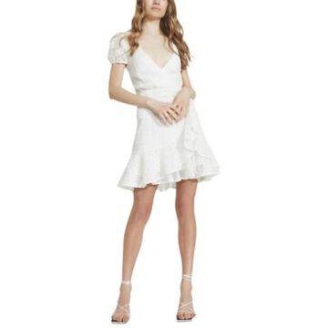 Bardot Nadia Cutout Tie-Back Eyelet Dress