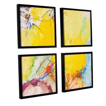 ArtWall Allan Friedlander 'Crystal' 4 Piece Floater Framed Canvas Square Set
