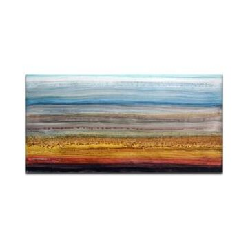 """Ready2HangArt, 'Sky and Ground' Abstract Canvas Wall Art, 30x60"""""""