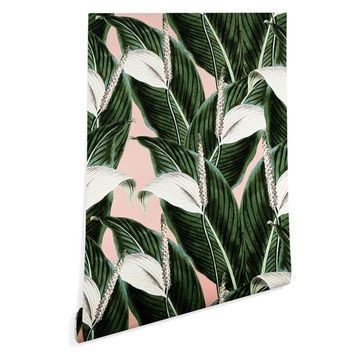 Deny Designs Marta Barragan Camarasa Floral Desert Wallpaper, Green, 2