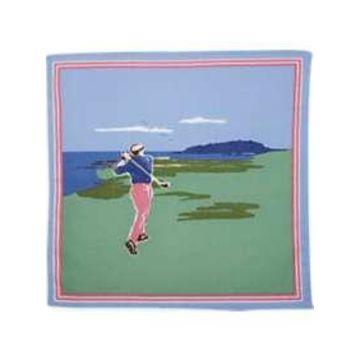 Egara Green Golfer Pocket Square