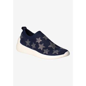 Women's Geana Sneakers by J. Renee in Navy Silver Star (Size 10 1/2 M)