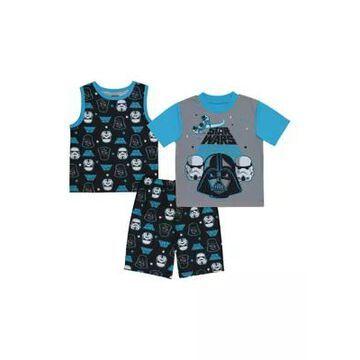 Boys' Boys 4-20 3 Piece Star Wars Graphic Pajama Set