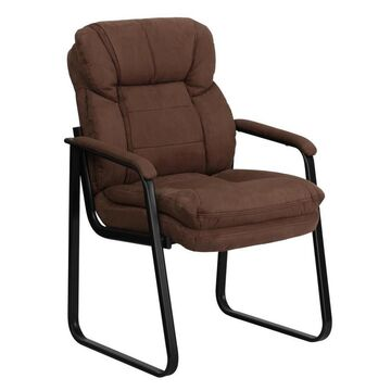 Flash Furniture Brown Microfiber Contemporary Desk Chair