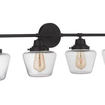 Craftmade Essex 4-Light Bathroom Vanity Light in Flat Black