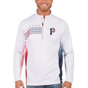 Men's Antigua White Pittsburgh Pirates Liberty Quarter-Zip Pullover Jacket