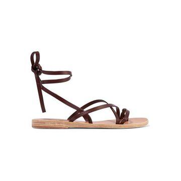 Ancient Greek Sandals - Morfi Leather Sandals - Brown
