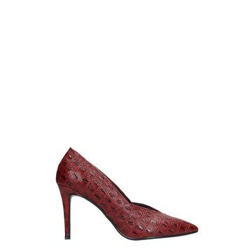 Lola Cruz Pumps In Red Leather
