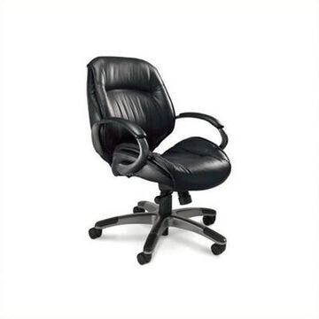Safco Series 100 Ultimo Mid in Back Office Chair - Black - Mayline