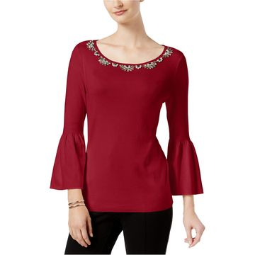 Charter Club Womens Jewel Pullover Sweater