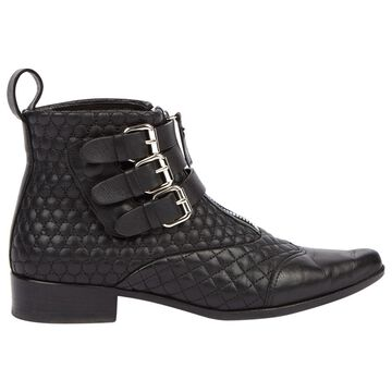 Tabitha Simmons Black Leather Ankle boots