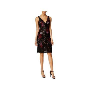 Betsy & Adam Womens Party Dress Lace Sleeveless