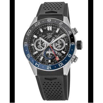 Tag Heuer Carrera Calibre Heuer 02 Batman Bezel GMT Skeleton Dial Rubber Strap Men's Watch CBG2A1Z.FT6157 CBG2A1Z.FT6157