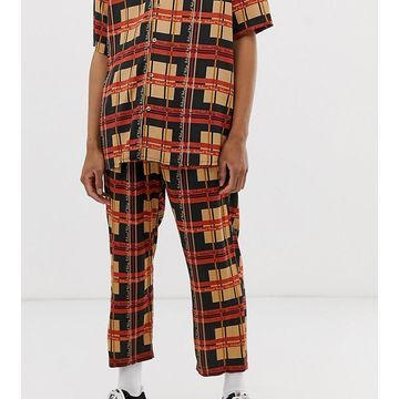 Reclaimed Vintage inspired branded check print pants