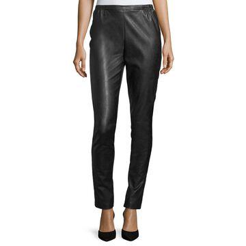 Petite Faux-Leather Skinny Pants
