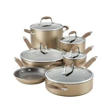 Anolon Advanced Home Hard-Anodized Nonstick 11-Pc. Cookware Set