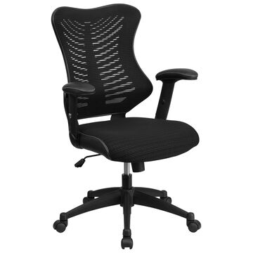 Flash Furniture Black Mesh Contemporary Adjustable Height Swivel Executive Chair | 847254076265
