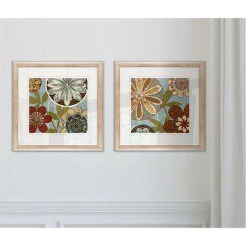 Wexford Home 'Persian Garden I' Framed 2-piece Art Set