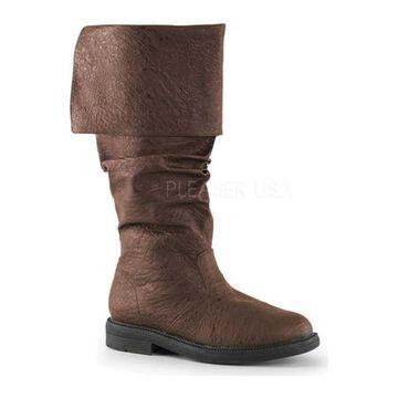 Funtasma Men's Robinhood 100 Boot Brown Distressed PU