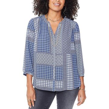 Nydj Womens Pintuck Top