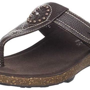 Aetrex Womens Emily Leather Open Toe Casual