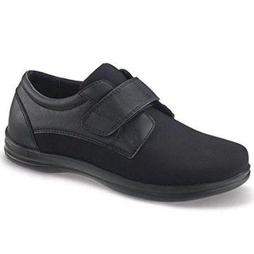 Apex Men's Venture-Classic Strap Black Oxford Flat