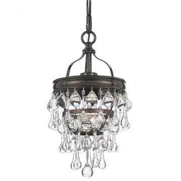 Crystorama Calypso 1-Light Vibrant Bronze Modern/Contemporary Crystal Chandelier   131-VZ