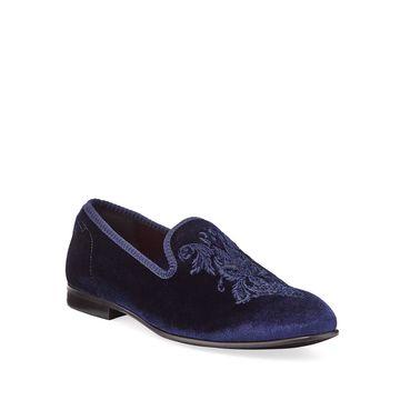 Men's Enrico Crest Smoking Slippers