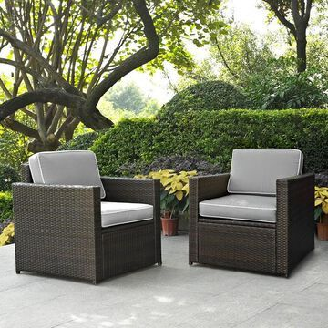 Crosley Furniture Palm Harbor Patio Arm Chair 2-piece Set